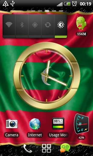 Maldives flag clocks