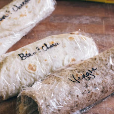 Homemade Frozen Bean and Veggie Burritos