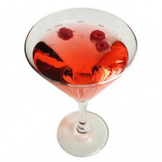 Chopin Poinsettia Martini