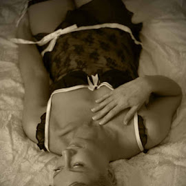 Cami by Edward Heathcote - Nudes & Boudoir Boudoir ( stockings, body, lingerie, boudoir, cami )