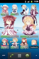 Screenshot of Touhou Battery Widget