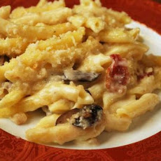 Macaroni and Cheese with Mushrooms and Bacon