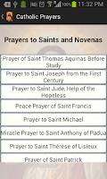 Screenshot of Catholic Prayers