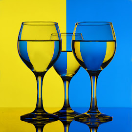 Contrasting hues by Rakesh Syal - Artistic Objects Glass