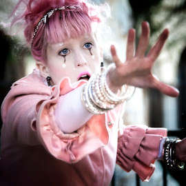 Lila'Angelique  by Heather Allen - People Musicians & Entertainers ( hand, reach, baroque, violin, steam punk., woman, pink, musician, tribal, emotion,  )