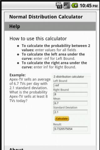 【免費教育App】Normal Distribution Calculator-APP點子
