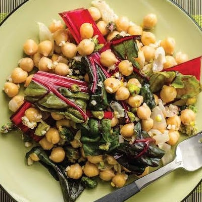 Swiss Chard With Chickpeas & Pistachios