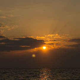 sunrise over the Black Sea by Bw Cris - Landscapes Beaches ( blakc sea, sand, sea, sunrise, beach, sun )