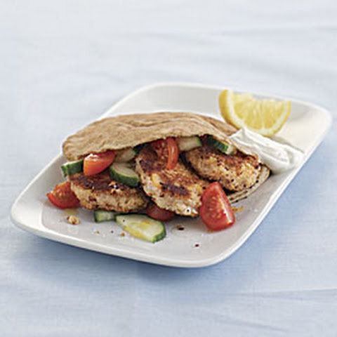 Falafel Sandwich with Tomato-Cucumber Salad