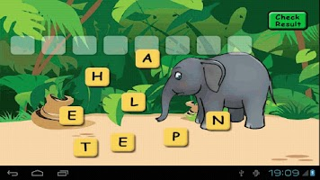 Screenshot of Animal Scrabble