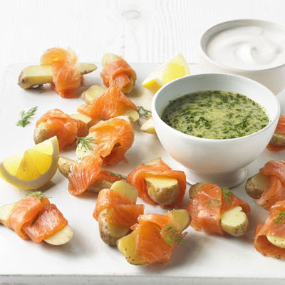 Scandi Smoked Salmon Potatoes