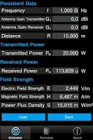 Screenshot of FieldStrength & PowerEstimator