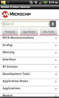 Screenshot of Mobile Product Selector