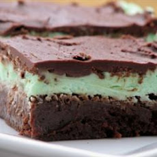 Chocolate Peppermint Layered Brownies