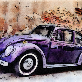 Beetle by Daniel Truta - Illustration Products & Objects ( beautiful, popular, art, painting, drawing )