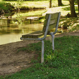 by Brian Baggett - City,  Street & Park  City Parks ( public, bench, furniture, object )