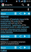 Screenshot of Arcus Dictionary Pro (ADS)