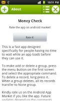 Screenshot of Money Check