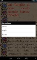 Screenshot of Gospel of the day