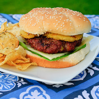 Grilled Teriyaki Burgers with Pineapple