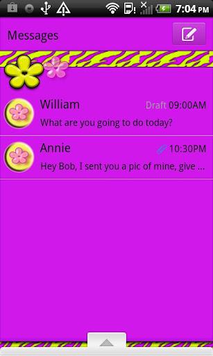 GO SMS THEME CartonTiger1
