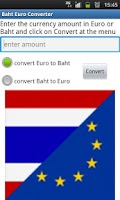 Screenshot of Euro Baht Converter