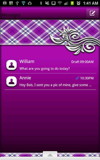 GO SMS - Mintie Swirl