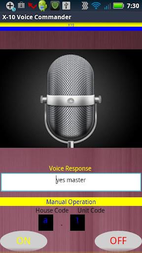 X-10 Voice Commander