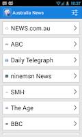 Screenshot of Australia News