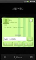 Screenshot of GO SMS Theme Candy Green