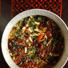 Pohp Batalu Jo Pulao (Spiced Rice with Dates & Fried Potatoes)