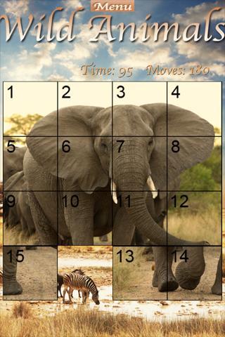 Wild Animals Slider Puzzle