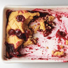 Saucy Cranberry Maple Pudding Cake