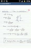 Screenshot of A-Level Mathematics (Part 1)