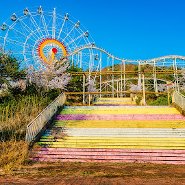 Overall by Keith Homan - City,  Street & Park  Amusement Parks ( ferris, hdr, keith homan, wheel, abandened, gimahe, south, korea,  )
