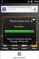Screenshot of Voice Control without internet