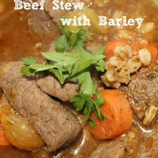 Beef Stew Recipe with Barley