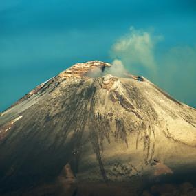 popocataepetl by Cristobal Garciaferro Rubio - City,  Street & Park  Vistas ( crater, popo, popocatepetl, smoking volcano, snowy volcano )