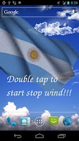 Screenshot of 3D Argentina Flag LWP +