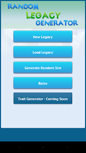 Legacy Generator for Sims 4 - screenshot