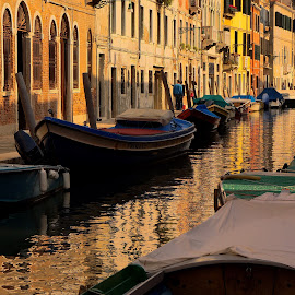 Venezia canal by Martin Vanek - City,  Street & Park  Historic Districts ( venezia, water, boats, venice, italy )