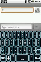 Screenshot of Glow Legacy Keyboard Skin