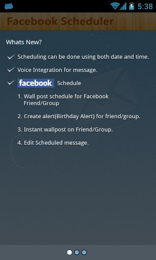 Facebook Scheduler