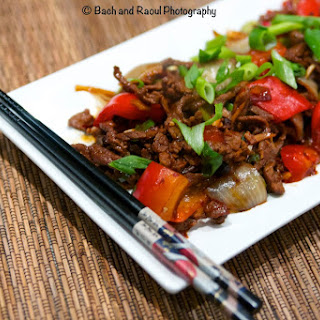 Pepper Steak Stir Fry With Black Bean Sauce