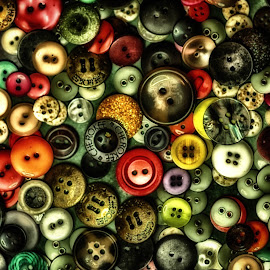 Buttons by Charles Bush - Digital Art Things ( colorful, texture, fine art photography, buttons, fun )