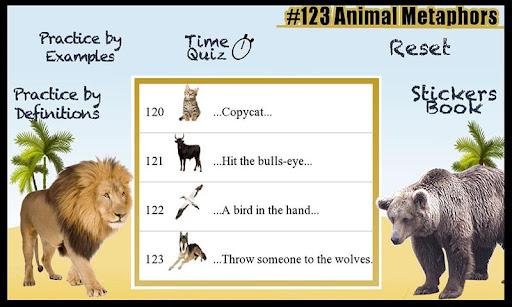 123 Animal Metaphors Idioms