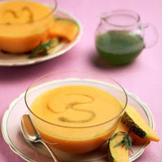 Chilled Cantaloupe Soup with Tarragon Syrup