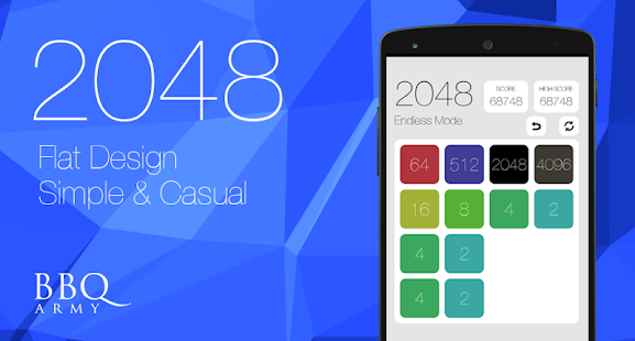 2048 flat design sound&casual apk screenshot
