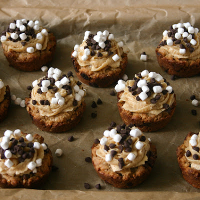 Brown Butter Chocolate Chip Oatmeal S'mores Cookie Cups