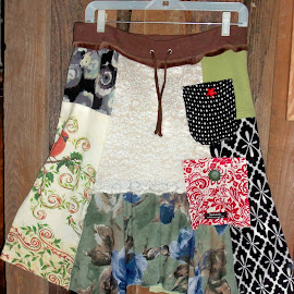 Patchwork skirt by Jean Miller - Artistic Objects Clothing & Accessories